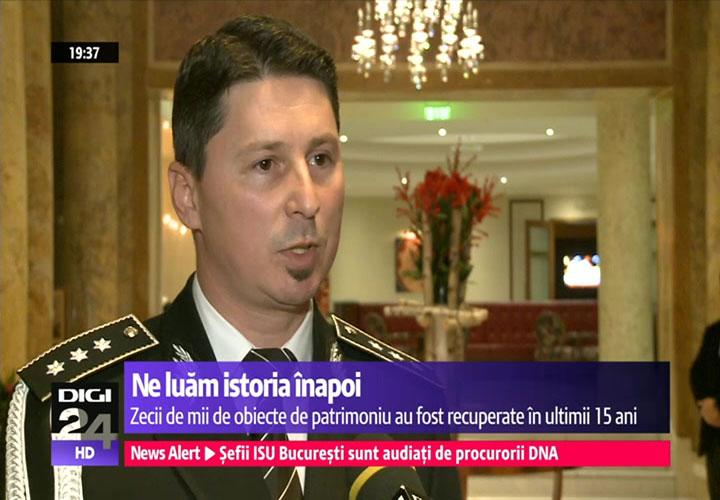 șeful Poliției Patrimoniului, comisarul-șef Bogdan Carp (sursa digi24.ro)